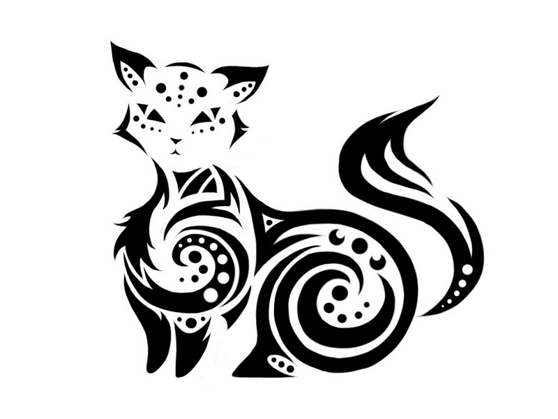 Celtica cat tattoo.