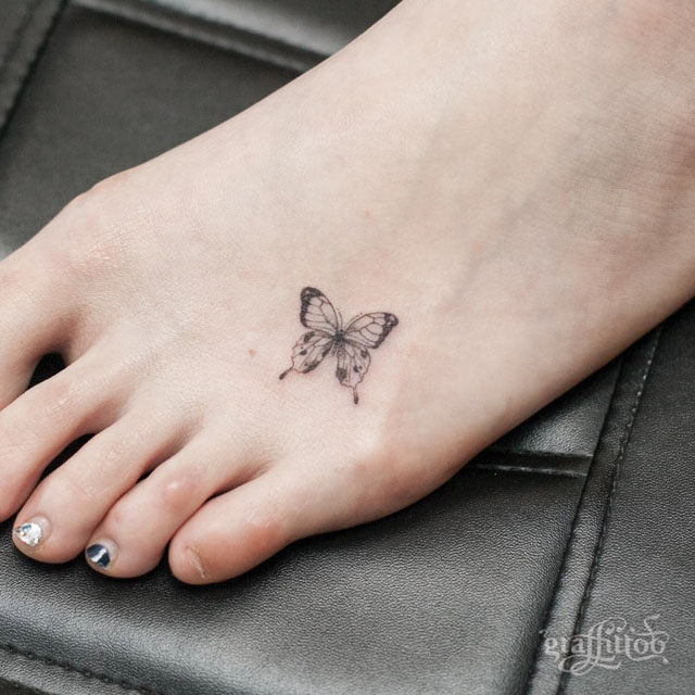 Butterfly-Tattoo-on-Foot-by-Graffittoo
