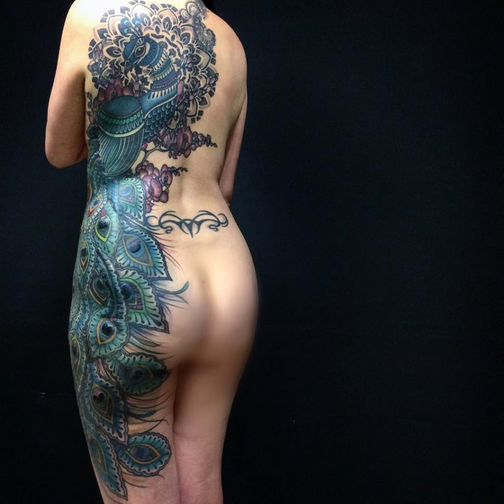 Full-Body-Peacock-Tattoo-by-Saskia-Chowles